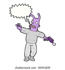 cartoon space alien shouting