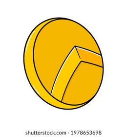 Cartoon Spartan Shield Vector Illustration