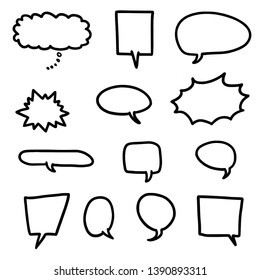 Cartoon speech bubble set - vector illustration elements.