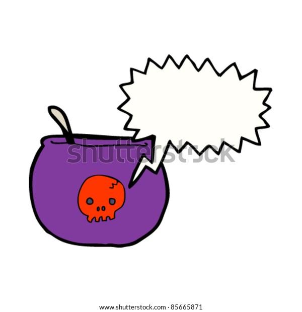 cartoon spooky halloween cauldron