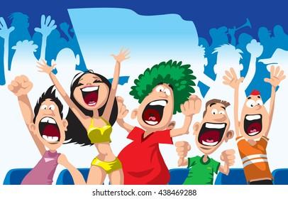 Fans Support Stock Vectors Images Vector Art Shutterstock