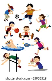 cartoon sport  icon