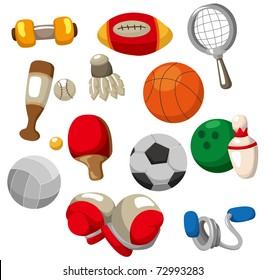cartoon Sport objects icon