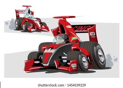 Cartoon sport race cars. Available eps-10 vector format separated by groups and layers for easy edit