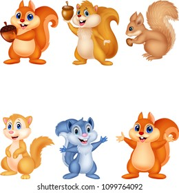 Cartoon squirrel collection set