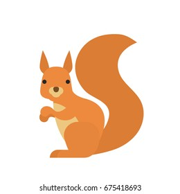cartoon squirrel on white background