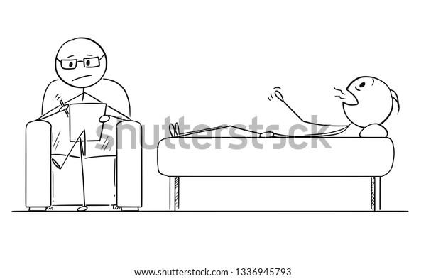 Cartoon Stick Figure Drawing Conceptual Illustration Stock