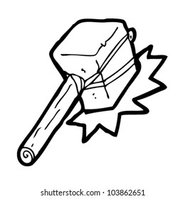 cartoon stone hammer