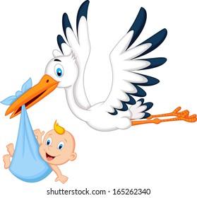 Cartoon Stork High Res Stock Images Shutterstock