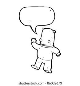 cartoon strange spaceman