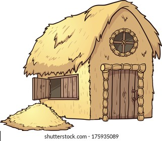 Straw House Images, Stock Photos & Vectors | Shutterstock House Made Of Sticks Cartoon