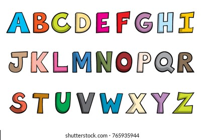 cartoon alphabet images stock photos vectors shutterstock https www shutterstock com image vector cartoon style alphabet letters 765935944