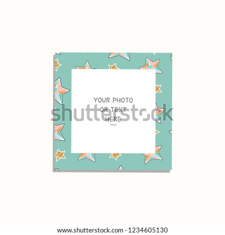 Cartoon Style Christmas And New Year Vector Template Frame This Photo Frames You Can