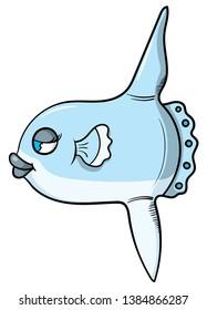 Cartoon style illustration of a female sunfish.