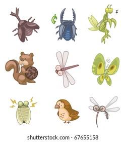 cartoon summer animal icon