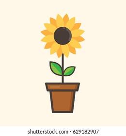 sunflower cartoon images stock photos vectors shutterstock rh shutterstock com cartoon sunflower field cartoon sunflower drawing
