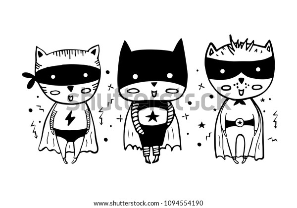 Image Vectorielle De Stock De Des Super Heros De Dessin Anime En