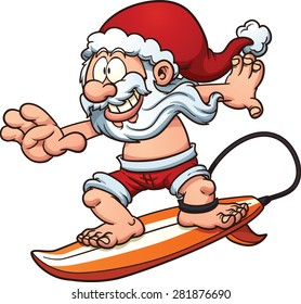 surfing santa images stock photos vectors shutterstock rh shutterstock com clipart surfing girl surfing clipart black and white