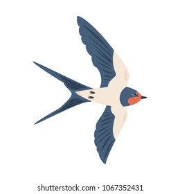 Cartoon swallow icon on white background. Vector illustration.