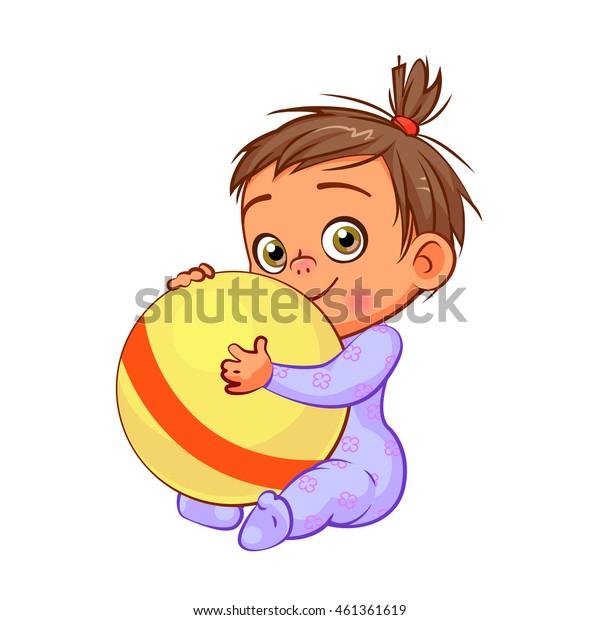 Image Vectorielle De Stock De Dessin Dune Petite Fille