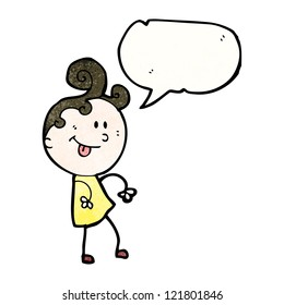 cartoon talking woman
