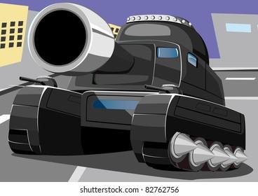 cartoon tank five