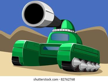 cartoon tank six