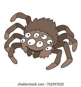 cartoon tarantula spider