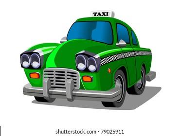 Cartoon taxi