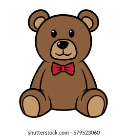 Cartoon Teddy Bear Vector Illustration