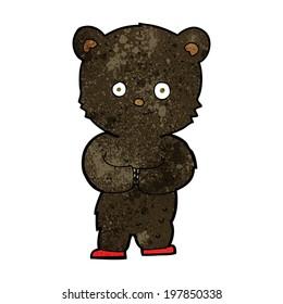 cartoon teddy black bear cub