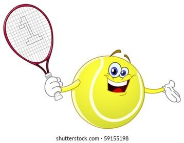 Tennis Cartoon Images Stock Photos Vectors Shutterstock