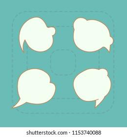 cartoon text box smooth  shape