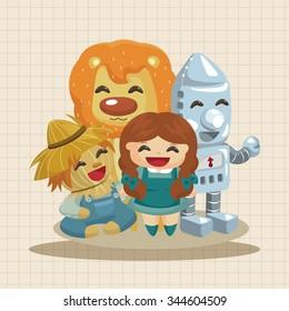 The cartoon theme elements