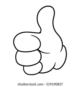 Cartoon Thumbs Up Vector Illustration