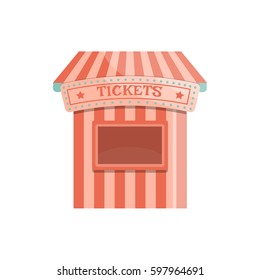 Cartoon ticket office. Vector illustration.