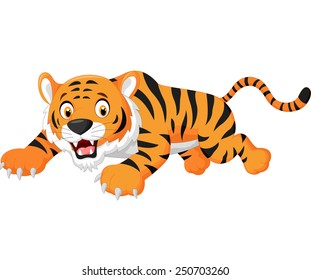 Cartoon tiger jumping