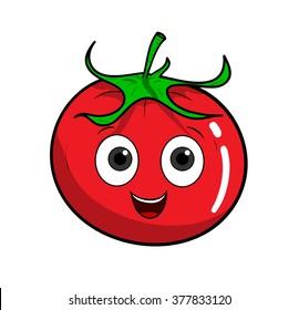 Cartoon Tomato, a hand drawn vector illustration of a cartoon tomato.