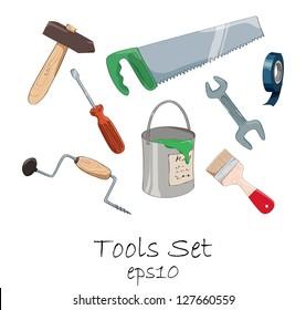 Cartoon tools set