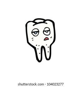 cartoon tooth character