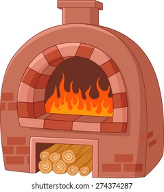 Cartoon traditional oven
