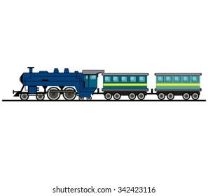 Cartoon Train Isolated