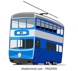 Cartoon tram