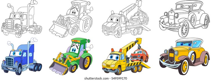Excavator+coloring+page Stock Illustrations, Images ...