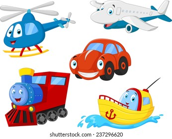 Cartoon transportation collection