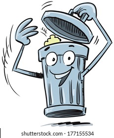 Trash Cans Cartoon Images Stock Photos Vectors Shutterstock