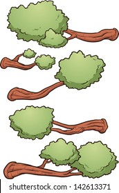 Cartoon tree branches. Vector clip art illustration with simple gradients. Each on a separate layer.