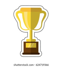 cartoon trophy award sport icon