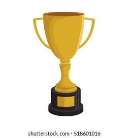 cartoon trophy champion baseball icon