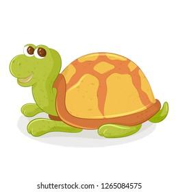 Cartoon turtle. Vector illustration